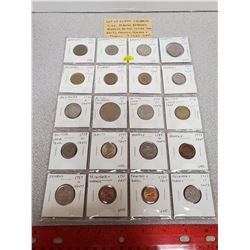 Lot of 20 different Caribbean coins: Includes Bahamas, Barbados, Bermuda, British Caribbean Territor