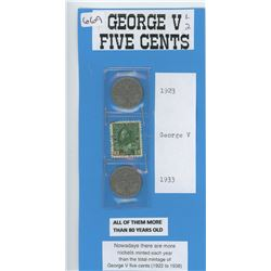 1923 and 1933 Five Cents- Scarcer Dates