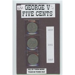 Five Cents 1930,1931 and 1932