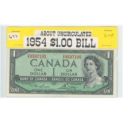 1954 $1.00 About Unc.