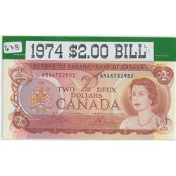 1974 Canadian $2.00