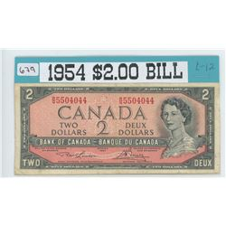1954 Canadian $2.00