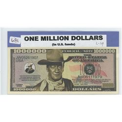 John Wayne One Million Dollars