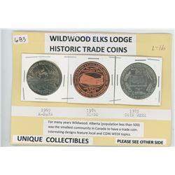 Wildwood Elks - Three Special Trade Coins