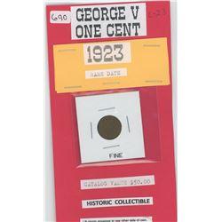 1923 One Cent - Fine - Catalog $50.00