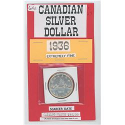 1936 Siver Dollar - Extremely Fine- Catalog $36.00