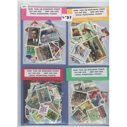 Four 100 Stamp Packages