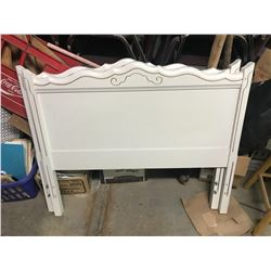 """Two White Or Off White Headboards For Single Beds 39""""x33"""""""