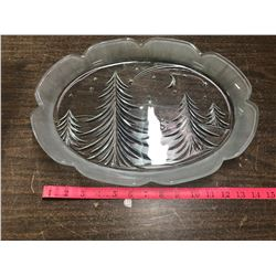 Christmas Platter, Oval, 15 Inches Long, In Own Box