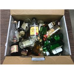 (In Box, 31 Small Liquor Bottles, 30 Glass and 1 Plastic) All Hold About 1.6 OZ (From Air Flights In