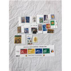 18 Euro Stamps, Various Denominations Total Value 16,47 Euros, Mixture Of Beijing, Olympics 2008, Eu
