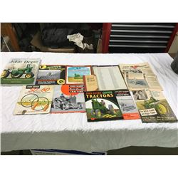 Lot Of Various John Deere Publications: Books, Booklets, Newspaper, Pamphlets, etc.