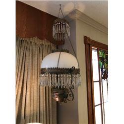 Kerosene ceiling light with deflector