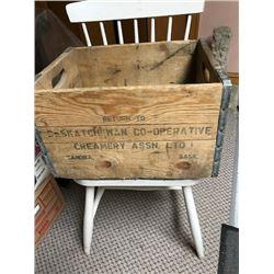 Sask co-operative creamery box