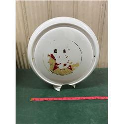 Texaco Milk Glass From Gas Pump (Broken Piece Missing)