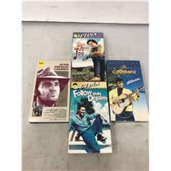 4 Elvis V.H.S Collectors Movies