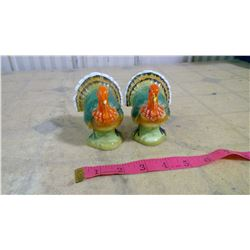OLD TURKEY SALT AND PEPPER SHAKERS