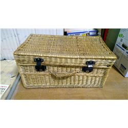 "ITEMS IN WICKER BOX 24""L X 14.5""W X 12 ""D"