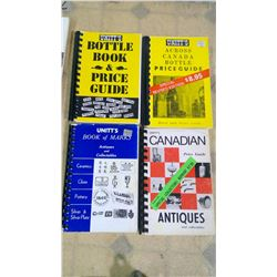 UNIT'S BOOKS A. BOTTLE BOOK & PRICE GUIDE. B. ACROSS CANADA BOTTLE GUIDE. C. CANADIAN PRICE GUIDE AN