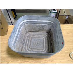 G.S.W Galvanized Wash Tub