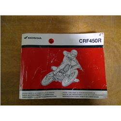 Honda CRF450R Manual Handbook