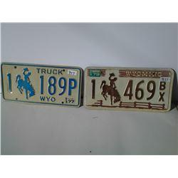 Wyoming License Plates