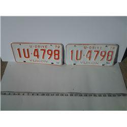 Yukon License Plates, matching