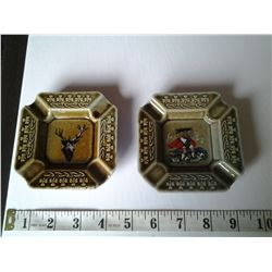 2 Ash Trays made in Ireland