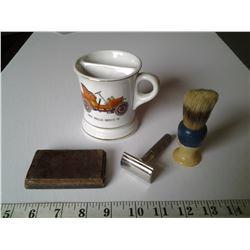 Shaving Lot, Shaving Mug stamped Japan