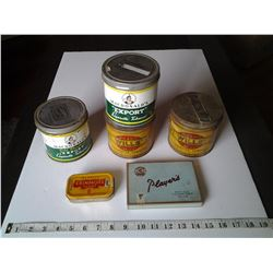 Tobacco Tin Lot