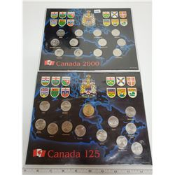 2000 Canadian 25¢ set & 1992 Canadian set