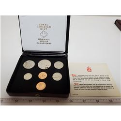 1976 Canadian double penny set