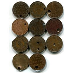 Canadian /NFL cull large cent various dates lot of 4