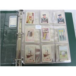 Binder of 1930's Tobacco Cards