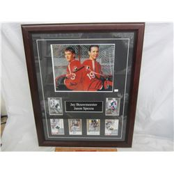 Framed Bouwmeester and Spezza Autographed Photo with Special Cards