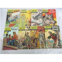 Lot of 8 Vintage Classic Illustrated Comics