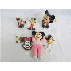 Lot of Disney Mickey Mouse Character Toys
