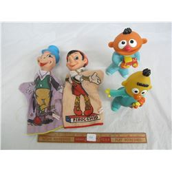 Lot of Disney Puppets and Sesame Street toys
