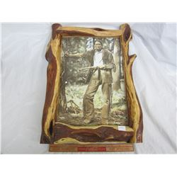 Grey Owl picture in Rustic Frame