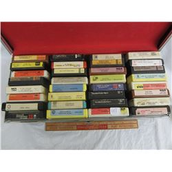 Lot of vintage 8 track tapes rock and roll with case