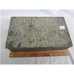 Christies tin full of assorted articles