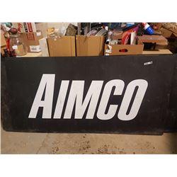 "Aimco Shop Sign Plastic 72"" X 36"""