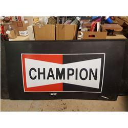 "Champion Shop Sign Plastic 66"" X 36"""
