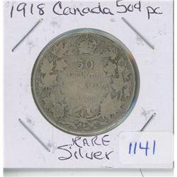 1918 CANADA 50 CENT PIECE