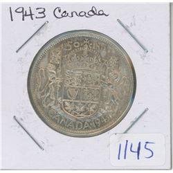 1943 CANADA 50 CENT PIECE