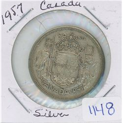 1957 CANADA 50 CENT PIECE