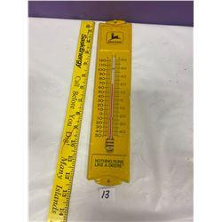John Deere Metal Thermometer