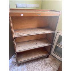 Stacking Oak Book Case - comes with top & base - no doors