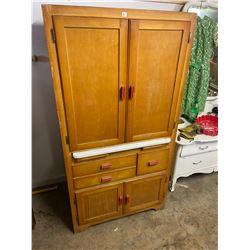 """1 Piece Birch Kitchen Cabinet - 66""""tall x 34"""" wide x 20"""" deep"""