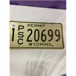 Wyoming Licence Plate